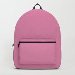 Solid Cadillac Pink Simple Bright Solid Color Backpack