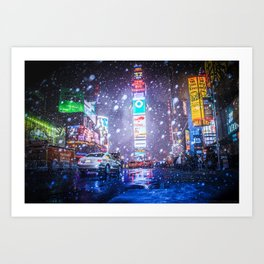 No Naked Cowboy Art Print