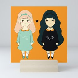 Love vs Twins Mini Art Print