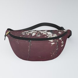 blossoms on ruby red Fanny Pack