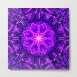 Velvet Star Mandala Metal Print