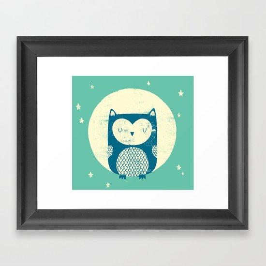 The Moon Owl Framed Art Print