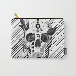 Abstract Skull B&W Carry-All Pouch