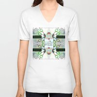 holographic V-neck T-shirts featuring SCISSOR DREAM by Riot Clothing