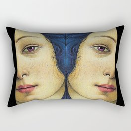 Of august gold-wreathed and beautiful. Rectangular Pillow