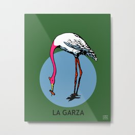La Garza Mexican Loteria Card Metal Print