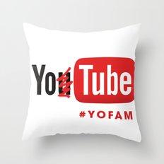 YOTUBE Throw Pillow