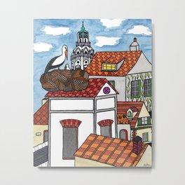 Spanish Rooftops Metal Print