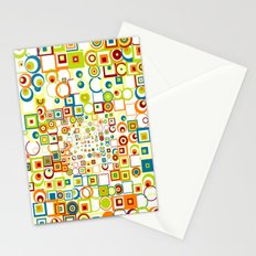 Retro Quarters + Rings Stationery Cards