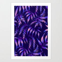 Brooklyn Forest - Purple Art Print