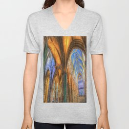 The Cathedral Atmosphere Unisex V-Neck