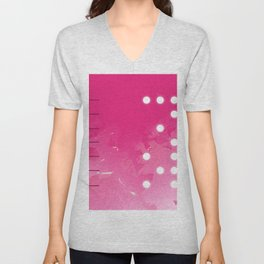 Pink Abstract Passion Unisex V-Neck