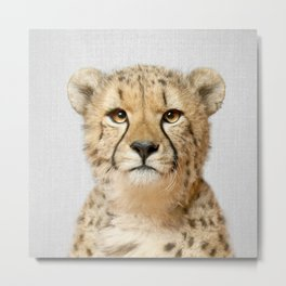 Cheetah - Colorful Metal Print