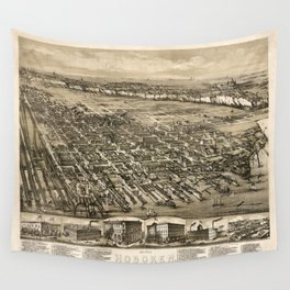 Map Of Hoboken 1881 Wall Tapestry
