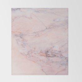 Blush Marble Throw Blanket