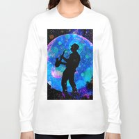 jazz Long Sleeve T-shirts featuring Jazz by Saundra Myles
