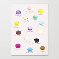 macarons Canvas Prints featuring Macarons   by Viola Brun Designs