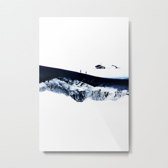 Hiking for Winter Metal Print