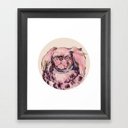 Pink Dog Framed Art Print