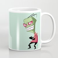 invader zim Mugs featuring Invader Zim by Maxine Art