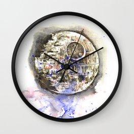 Star War Art Painting The Death Star Wall Clock