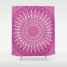 Pink oval mandala Shower Curtain