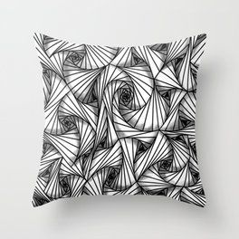 three-sided figures Throw Pillow