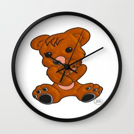 Teddy's Love Wall Clock