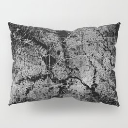 Dallas map Texas Pillow Sham