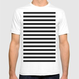 Modern Black White Stripes Monochrome Pattern T-shirt