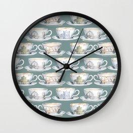 Florence coffee cup print Wall Clock