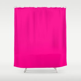SOLID FUSCHIA COLOR Shower Curtain