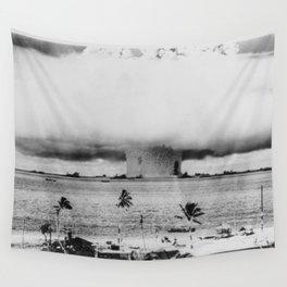 Atomic Bomb Mushroom Cloud Operation Crossroads Baker Test Wall Tapestry
