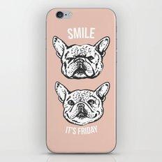 Smile It's Friday Frenchie iPhone & iPod Skin