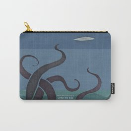 Jules Verne's Twenty Thousand Leagues Under the Sea - Minimalist literary design, literary gift Carry-All Pouch