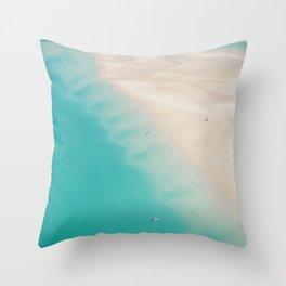 Teal Sands Throw Pillow