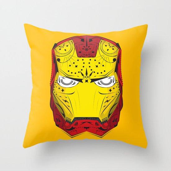 Sugary Iron Man Throw Pillow