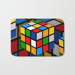Multicolored Rubik Cube Bath Mat