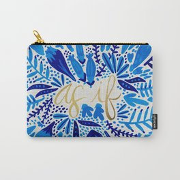 As If – Navy & Gold Carry-All Pouch