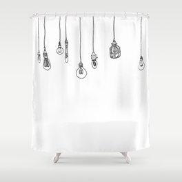 Lightbulbs Shower Curtain