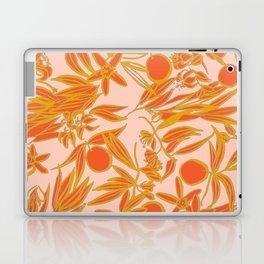 Orange Blossoms on Peach Laptop & iPad Skin