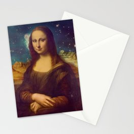 Mona Lisa's Galaxy Stationery Cards
