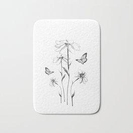 Flowers and butterflies 2 Bath Mat