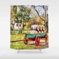 whisky Shower Curtains featuring Bourbon by ThePhotoGuyDarren
