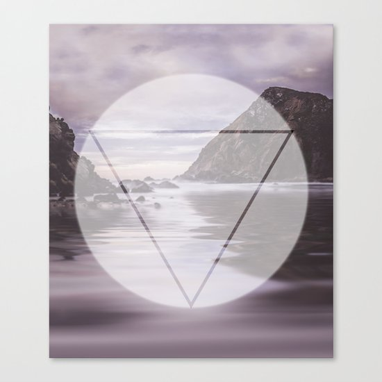 Calm Waters sacred geometry circle triangle Canvas Print