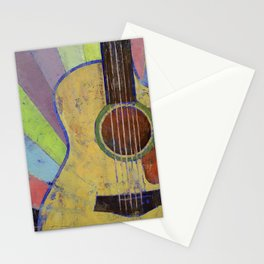 Sunrise Guitar Stationery Cards