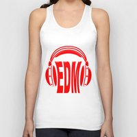 edm Tank Tops featuring EDM Style Headphones by Mark