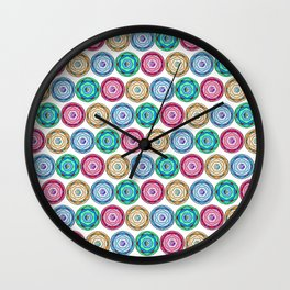 Acid.glow.pattern Wall Clock