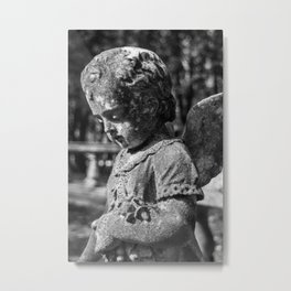 Angel Child Statue Metal Print