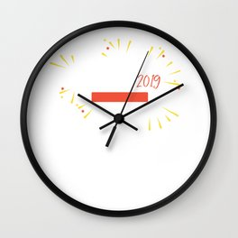 New Year Loading... Funny Fireworks 2019 Eve Wall Clock